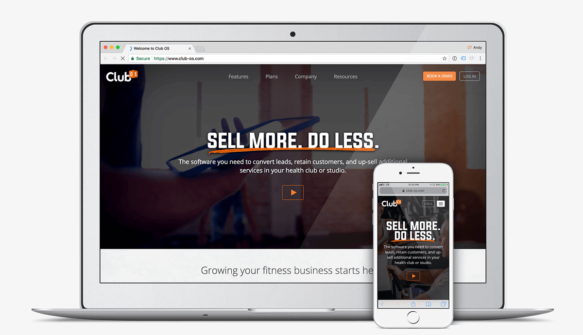 club os website for gym management software