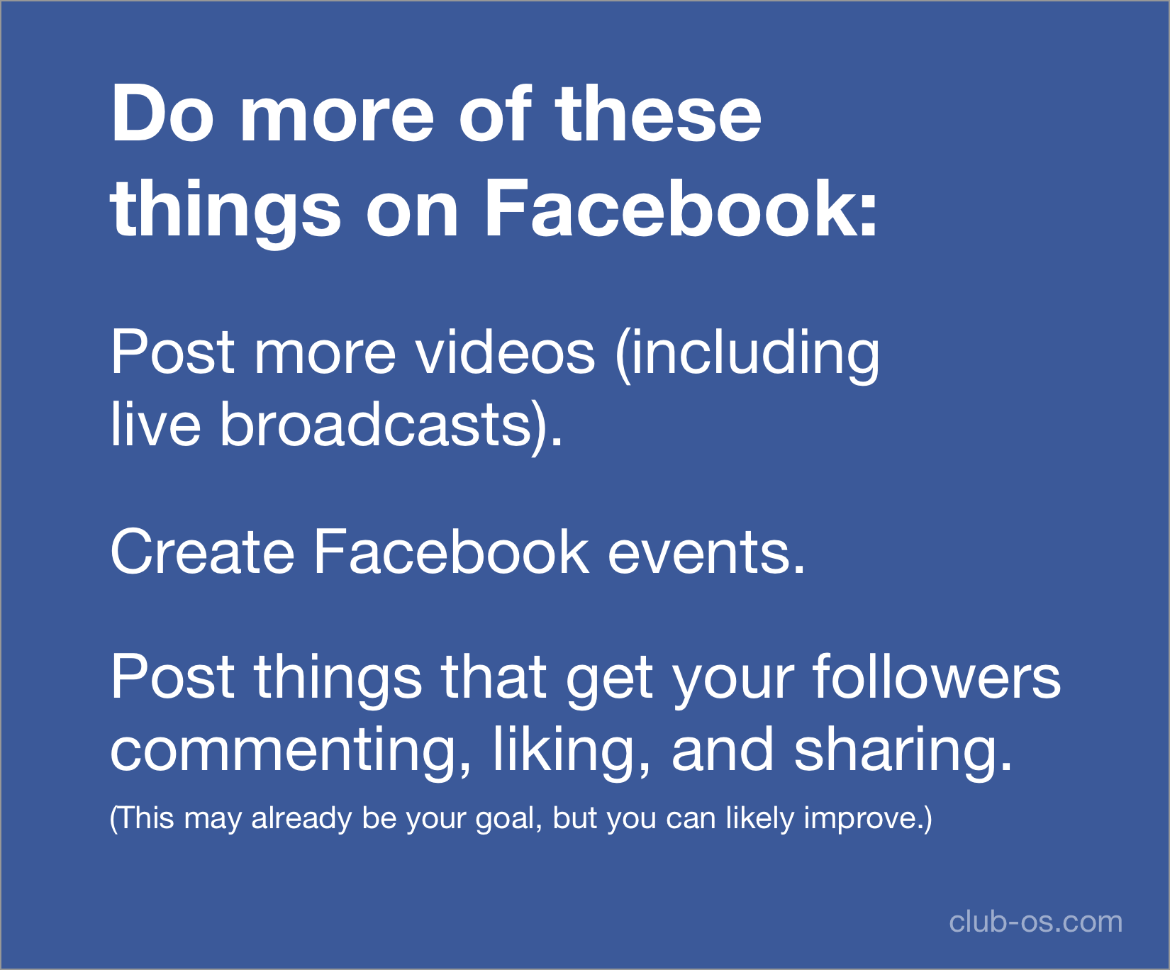Do more of these things on your fitness business Facebook page